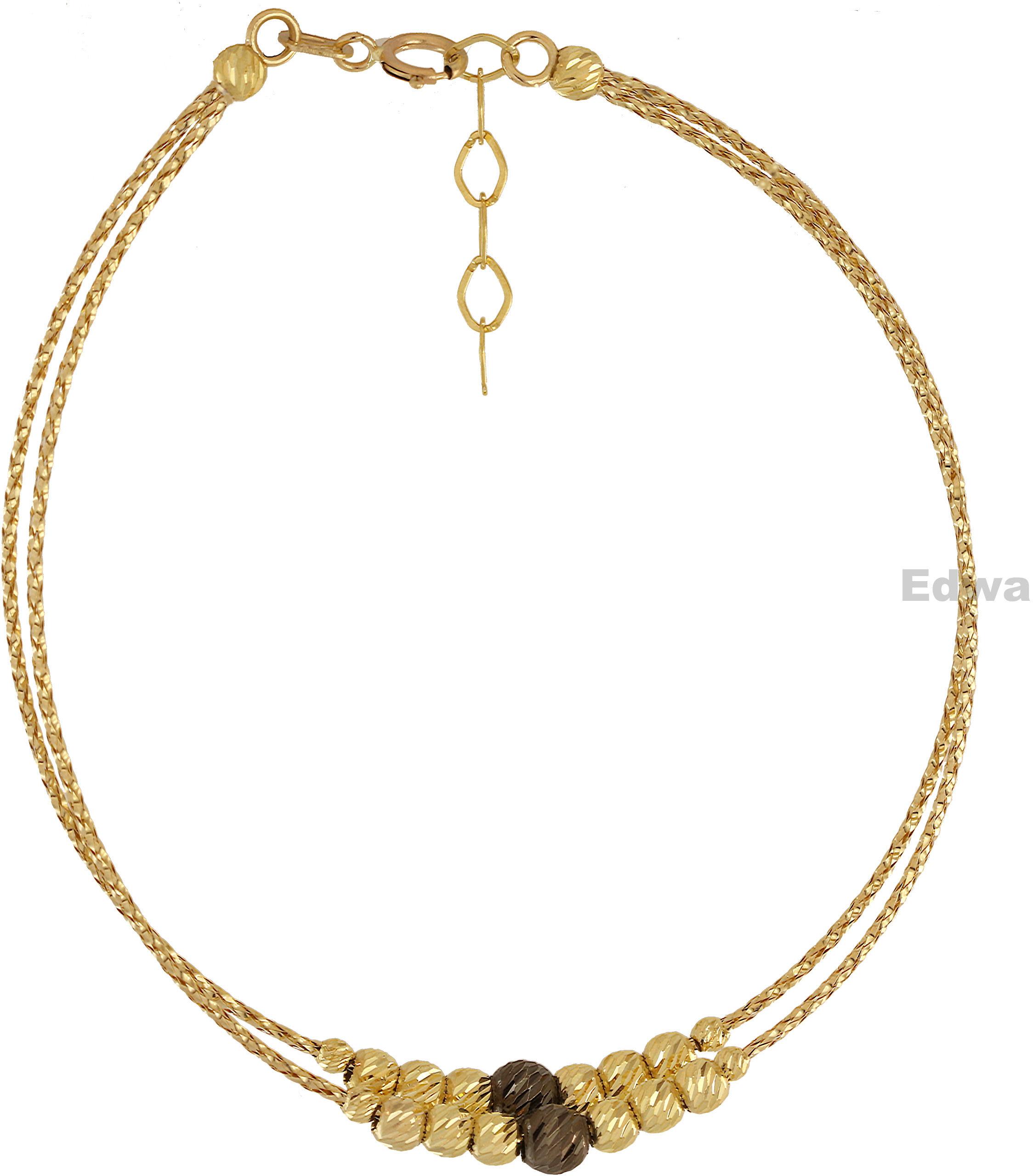 Bransoletka złota celebrytka z kuleczkami pr.585
