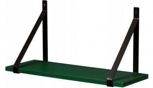 Półka łazienkowa zielona GINO 60cm + wsporniki, Gante Sensi