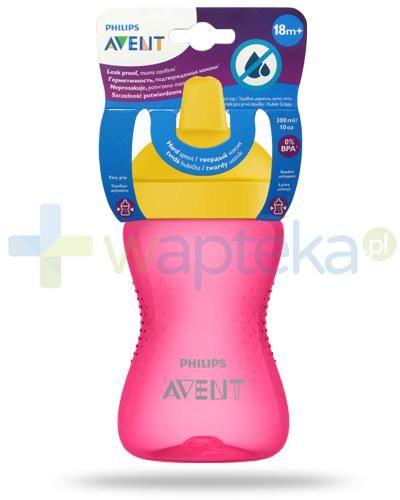 Avent Philips My Grippy kubek różowy 300 ml z miękkim, odpornym na gryzienie ustnikiem dla dzieci 18m+ [SCF804/04]