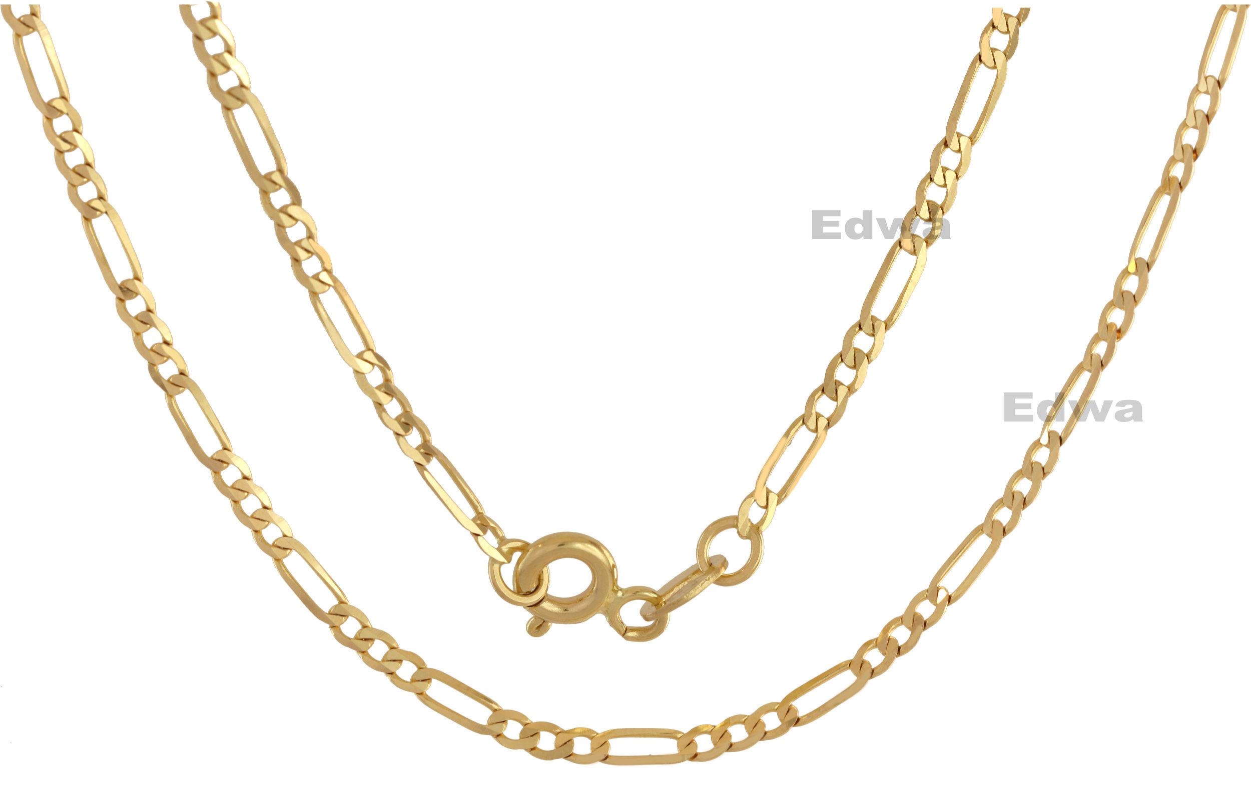 Łańcuszek złoty (Pełny) Figaro pr.585. 45 cm