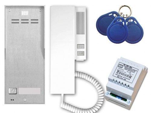 Domofon cyfrowy ACO Familio z czytnikiem zbliżeniowym - Zestaw jednorodzinny natynkowy