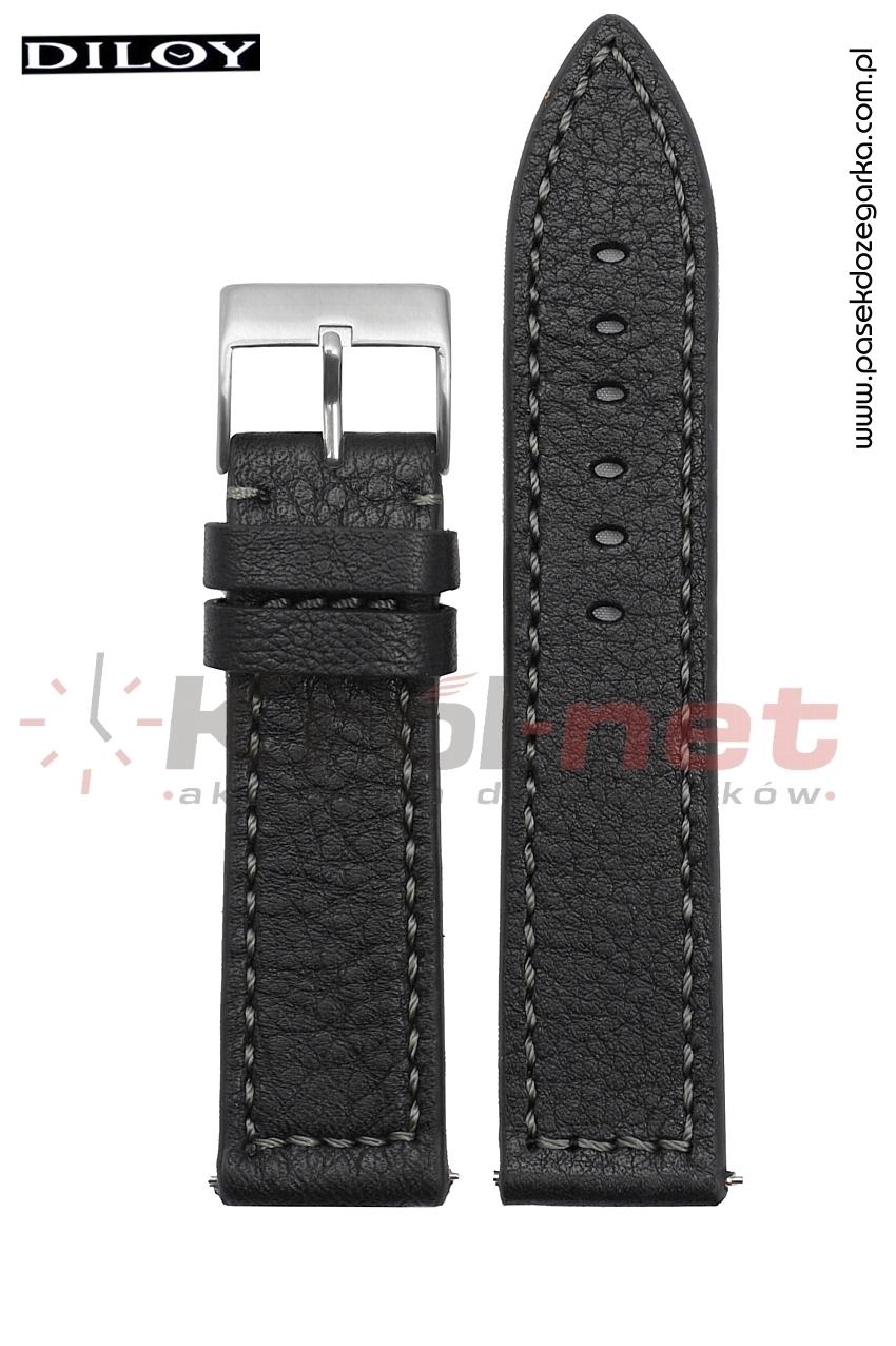 Pasek do zegarka Diloy 404/1/24 - czarny