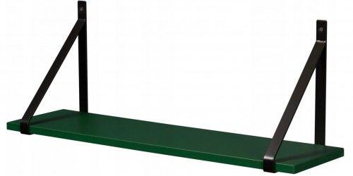 Półka łazienkowa zielona GINO 80cm + wsporniki, Gante Sensi