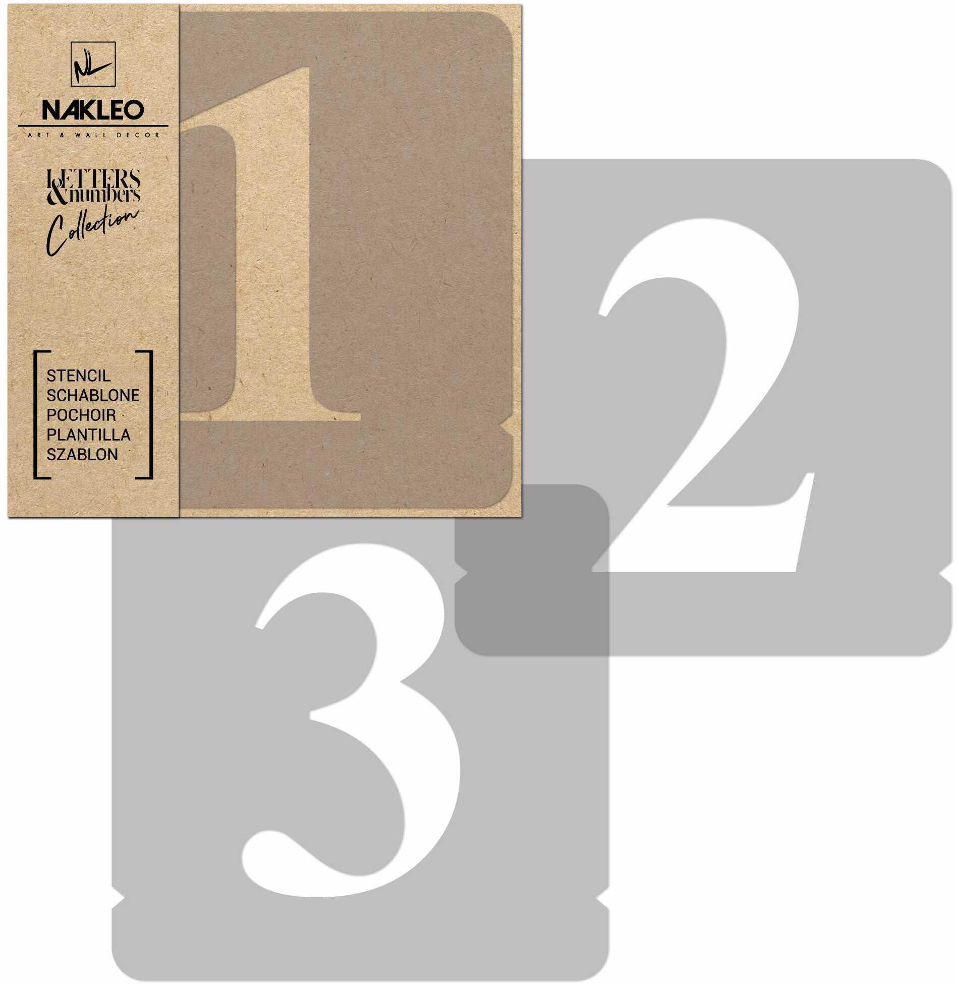 szablon malarski wielokrotny // cyfry 140 mm // Times Roman Cyfry