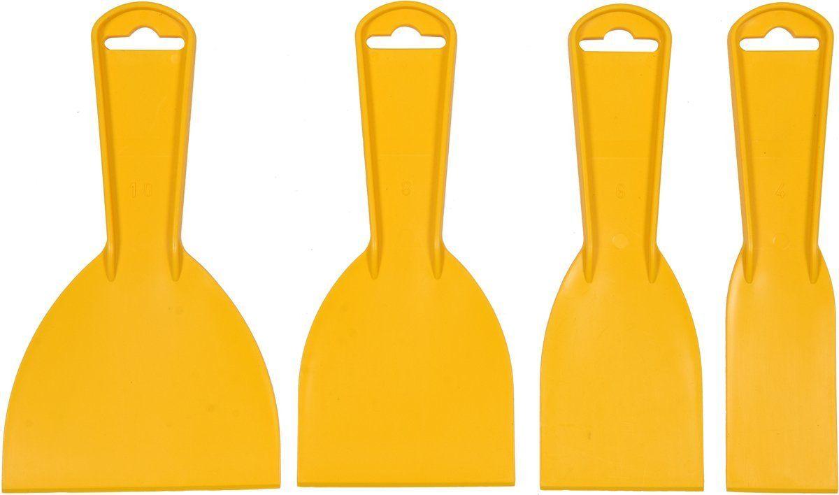 Szpachelki plastikowe 4szt. 40,60,80,100mm Vorel 05980 - ZYSKAJ RABAT 30 ZŁ