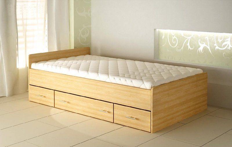 Łóżko 80262 90 drewniane z trzema szufladami  KUP TERAZ - OTRZYMAJ RABAT