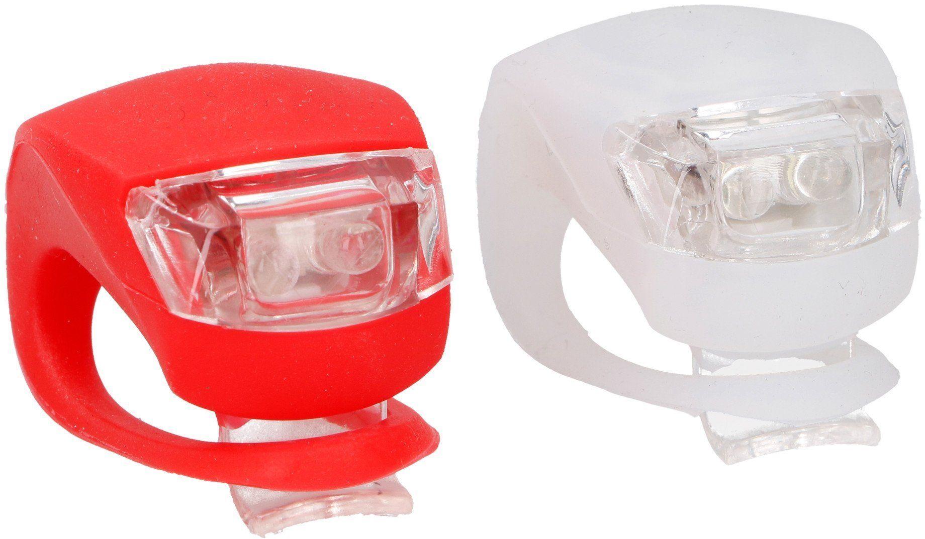 Lampka rowerowa silikonowa diody LED Dunlop x2