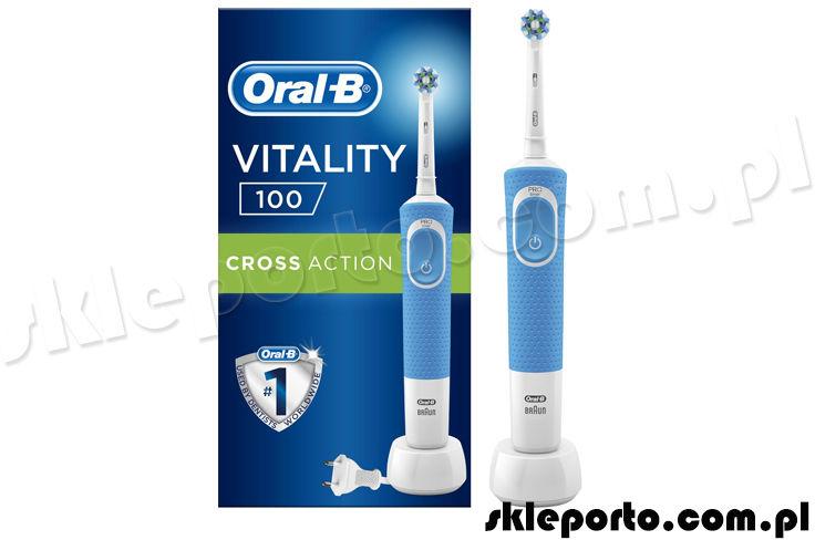 Braun Oral-B szczoteczka elektryczna Vitality D100 CrossAction - niebieska D100.413.1