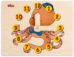 Dida - Zegarek do nauki dla dzieci - Krake - ręczny zegarek do nauki czytania godziny.
