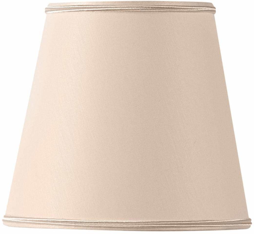 Klosz lampy szczypce płomień Ø 15 x 10 x 14 cm beżowy różowy
