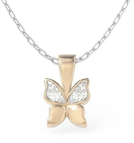 Wisiorek w kształcie motyla z różowego złota z cyrkoniami bpw-88p-r-c