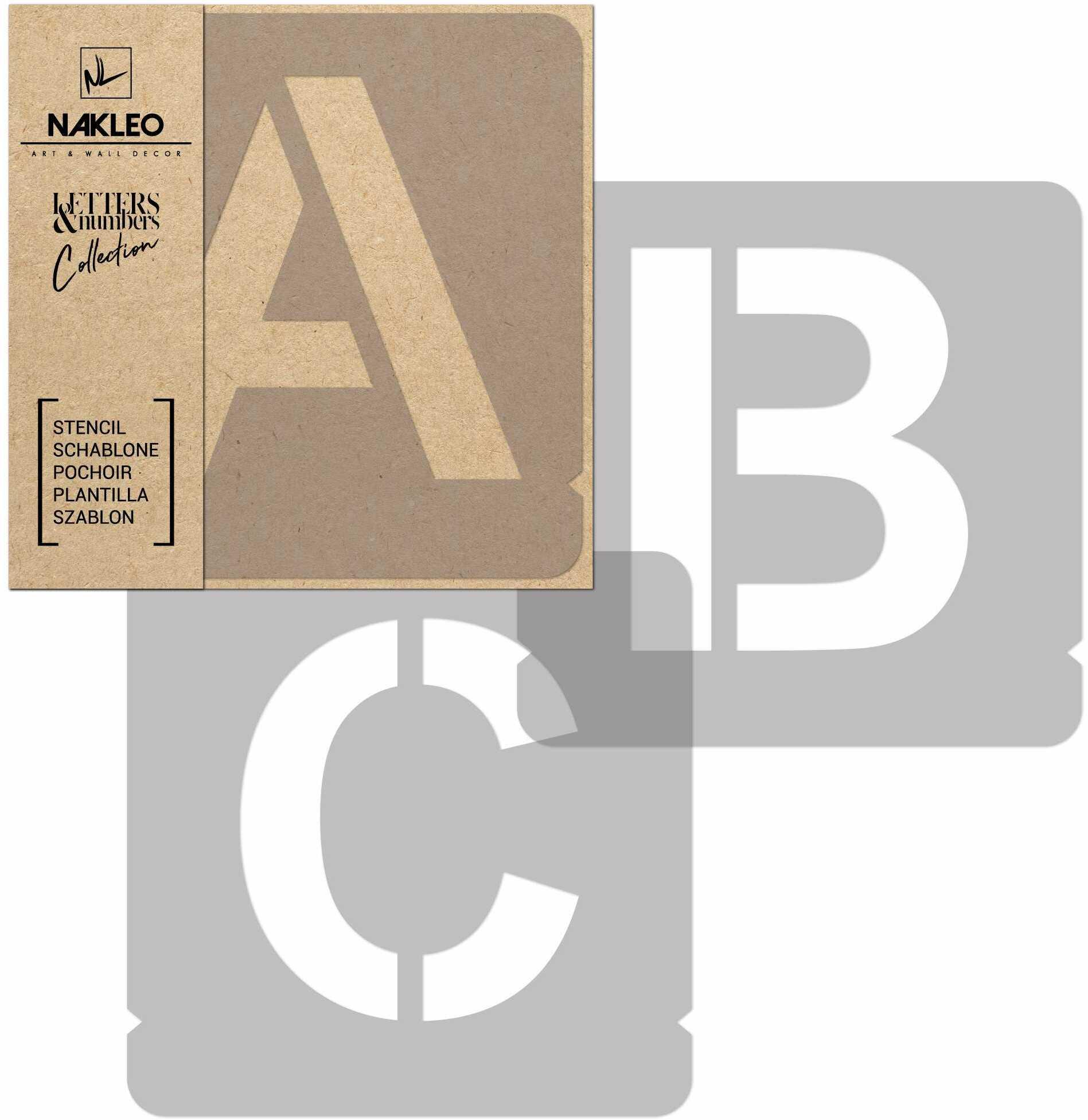 szablon malarski wielokrotny // litery i cyfry 140 mm // Modern Sans Wielkie