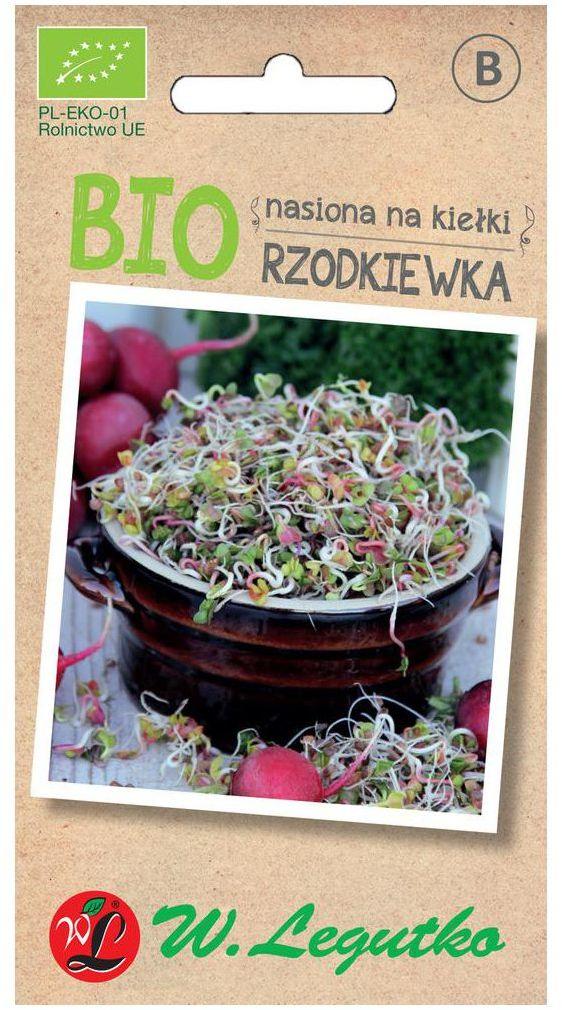 Rzodkiewka BIO nasiona na kiełki ekologiczne 10 g W. LEGUTKO