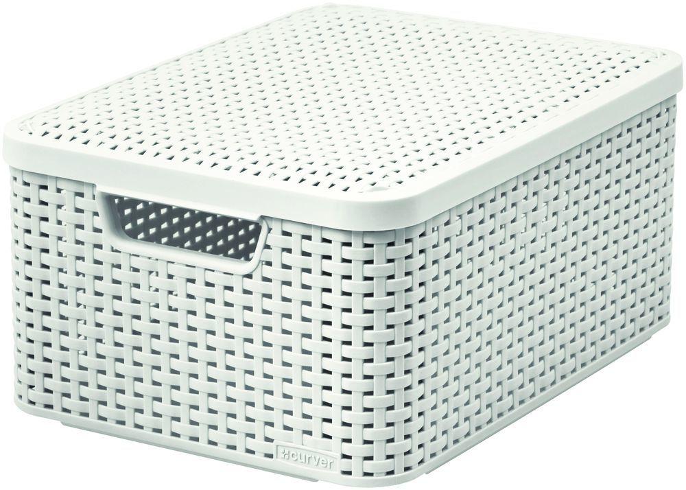 Pudełko z pokrywką - M - kremowa CURVER