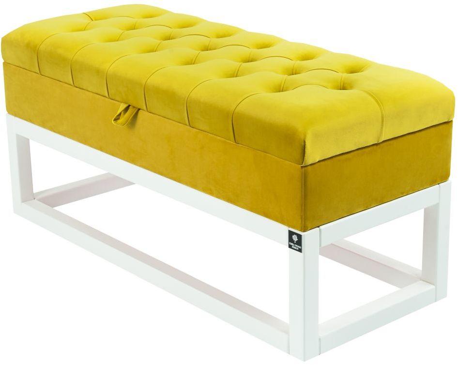 Kufer Pikowany CHESTERFIELD Cytrynowa Żółcień / Model QD-3 Rozmiary od 50 cm do 200 cm