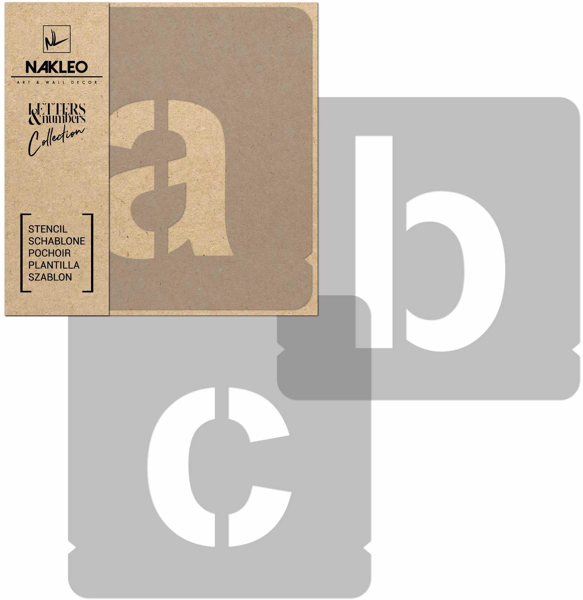 szablon malarski wielokrotny // litery i cyfry 50 mm // Modern Sans Małe