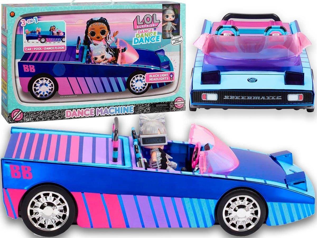 L.O.L. SURPRISE - Samochód kabriolet Dance 3w1 i ekskluzywna lalka LOL 117933