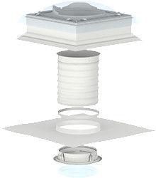 TCF 0010 VELUX świetlik tunelowy elastyczny do płaskiego dachu 35 cm