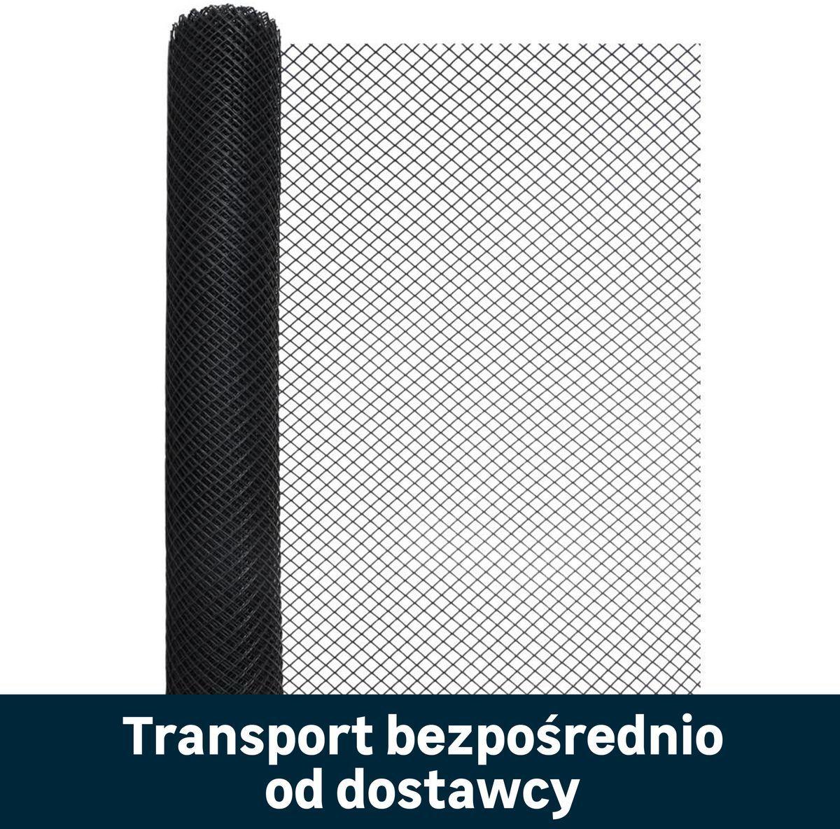 Siatka plastikowa 1.2 x 8 m 24 szt. czarna