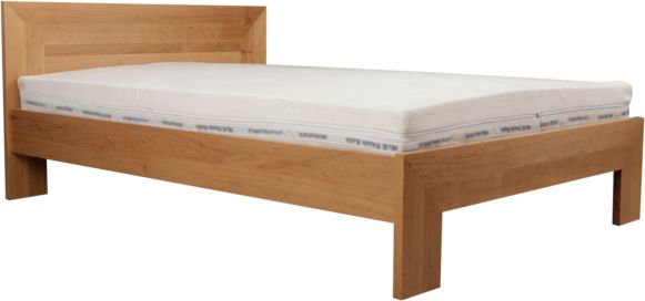 Łóżko LUND EKODOM drewniane, Rozmiar: 160x200, Kolor wybarwienia: Orzech, Szuflada: Brak Darmowa dostawa, Wiele produktów dostępnych od ręki!