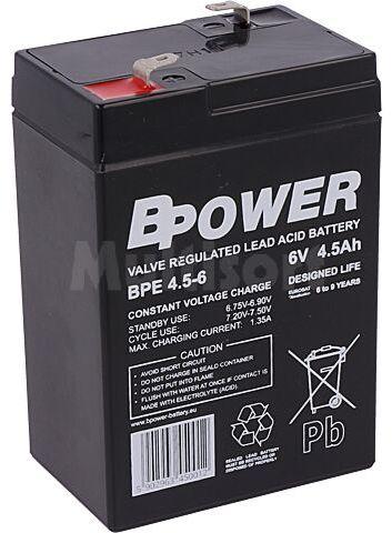 Akumulator kwasowo-ołowiowy BPOWER 6V 4,5Ah AGM 70x47x106mm