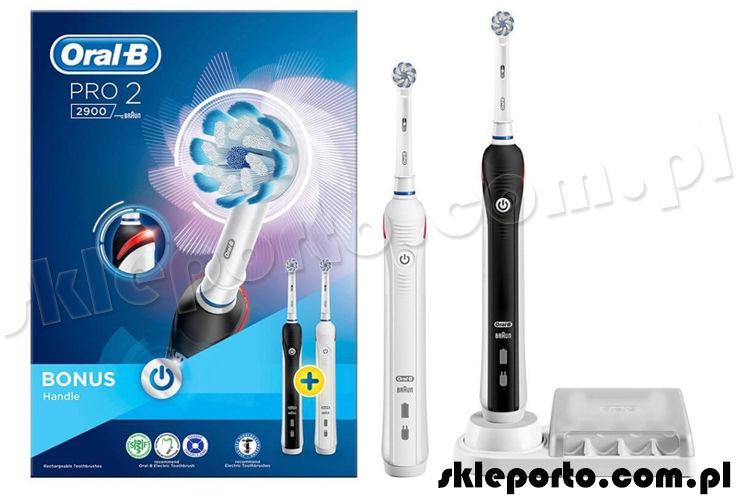 Braun Oral-B szczoteczka elektryczna PRO 2 2900 DUO Pack Black&White Edition D501.525.2h