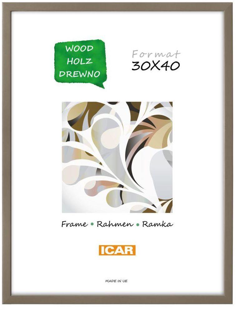 Ramka na zdjęcia Pinia 30 x 40 cm kawowa drewniana