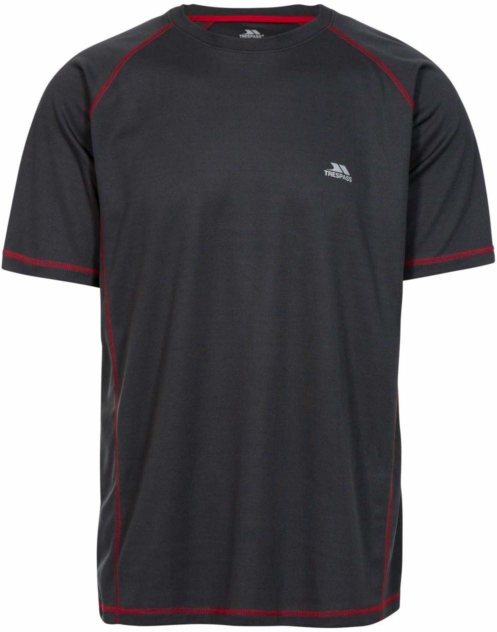 Trespass Albert Quick Dry T-shirt męski Stal węglowa XL