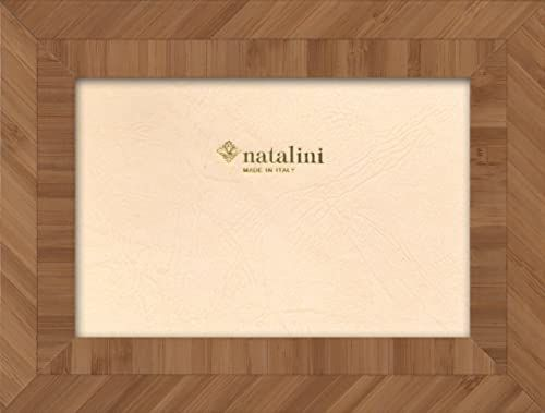 Natalini Marquetry ramka na zdjęcia wyprodukowana we Włoszech, tulipan, bambus, 12 cm x 18 cm
