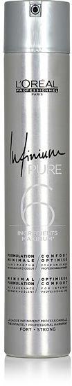 Loreal Infinium Pure Strong Bezzapachowy lakier do włosów - Strong 500 ml