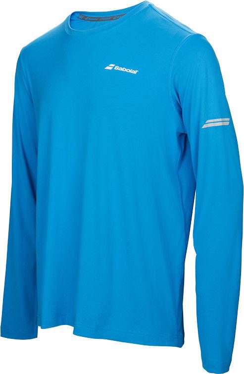 Babolat Core Long Sleeves Tee Men - drive blue
