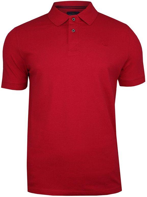 Czerwona Bawełniana Koszulka POLO -Adriano Guinari- Męska, Krótki Rękaw, z Kołnierzykiem, Casualowa TSADGPOLOskipatrol