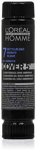 Loreal Homme Cover 5'' NO 7 Żel do koloryzacji dla mężczyzn - Średni Blond 50 ml