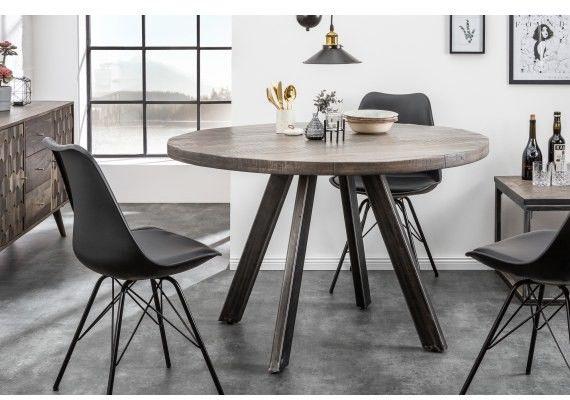 Stół drewniany Nori śr. 120 cm szare Mango
