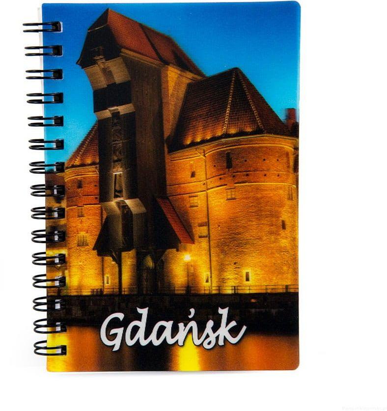 Notatnik 3d Gdańsk Żuraw