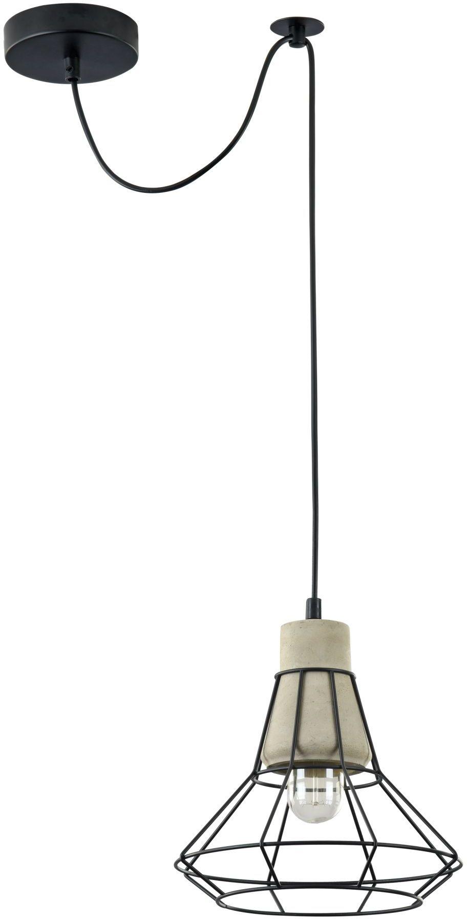 Maytoni Gosford T452-PL-01-GR lampa wisząca klosz betonowy metalowy dekor czarny regulowana wysokość klosz szary 1xE27 60W 23 cm