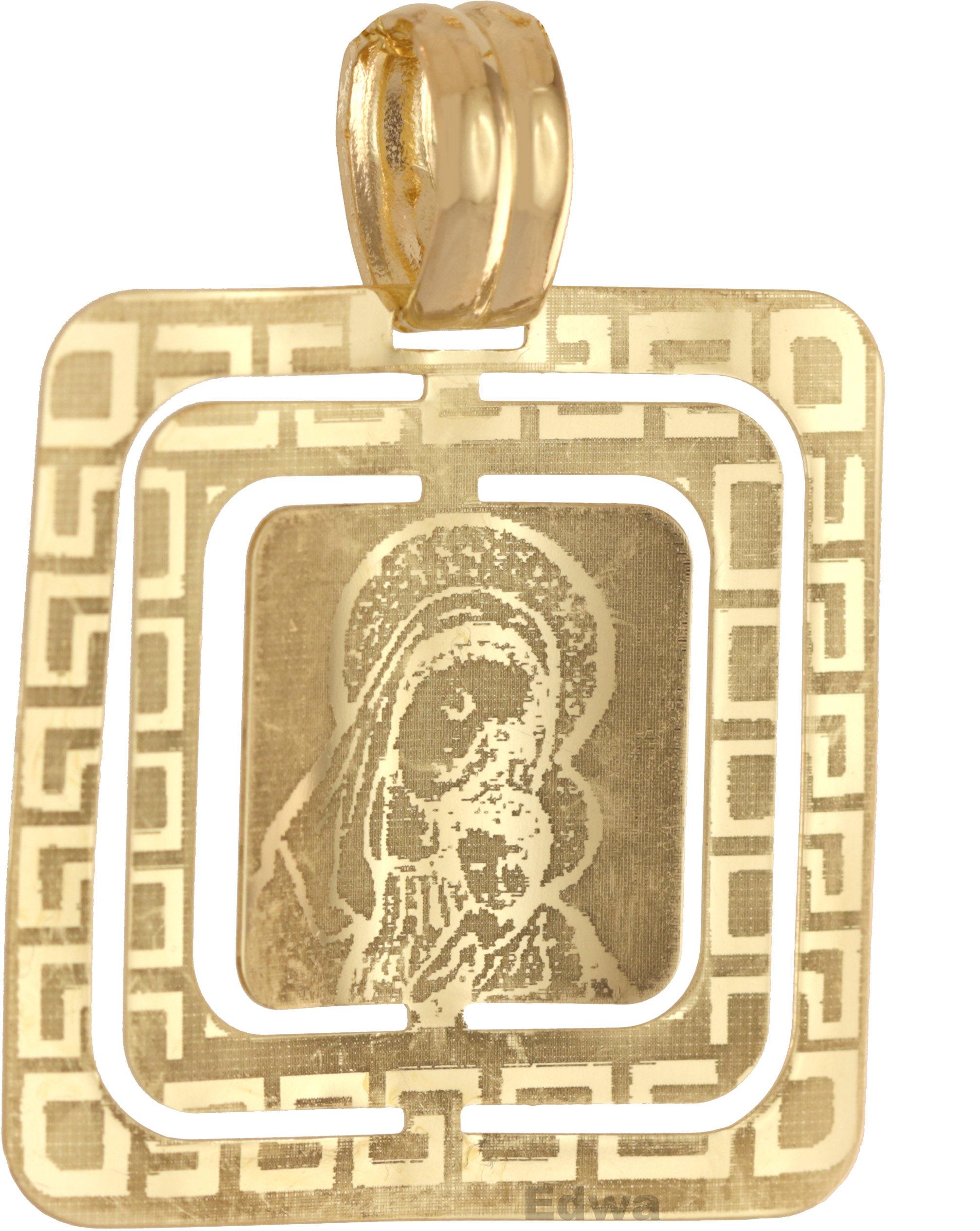 Zawieszka złota Medalik z grawerem laserowym pr.585