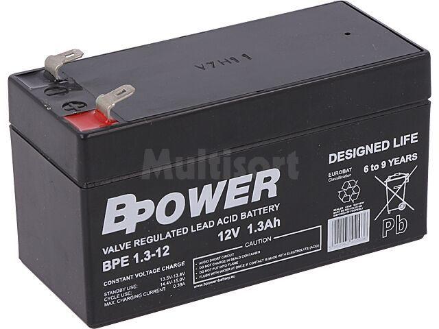 Akumulator kwasowo-ołowiowy BPOWER 12V 1,3Ah AGM 97x43x52mm