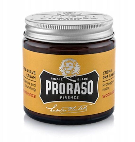 Proraso Wood & Spice nawilżający krem przed goleniem zarostu 100 ml