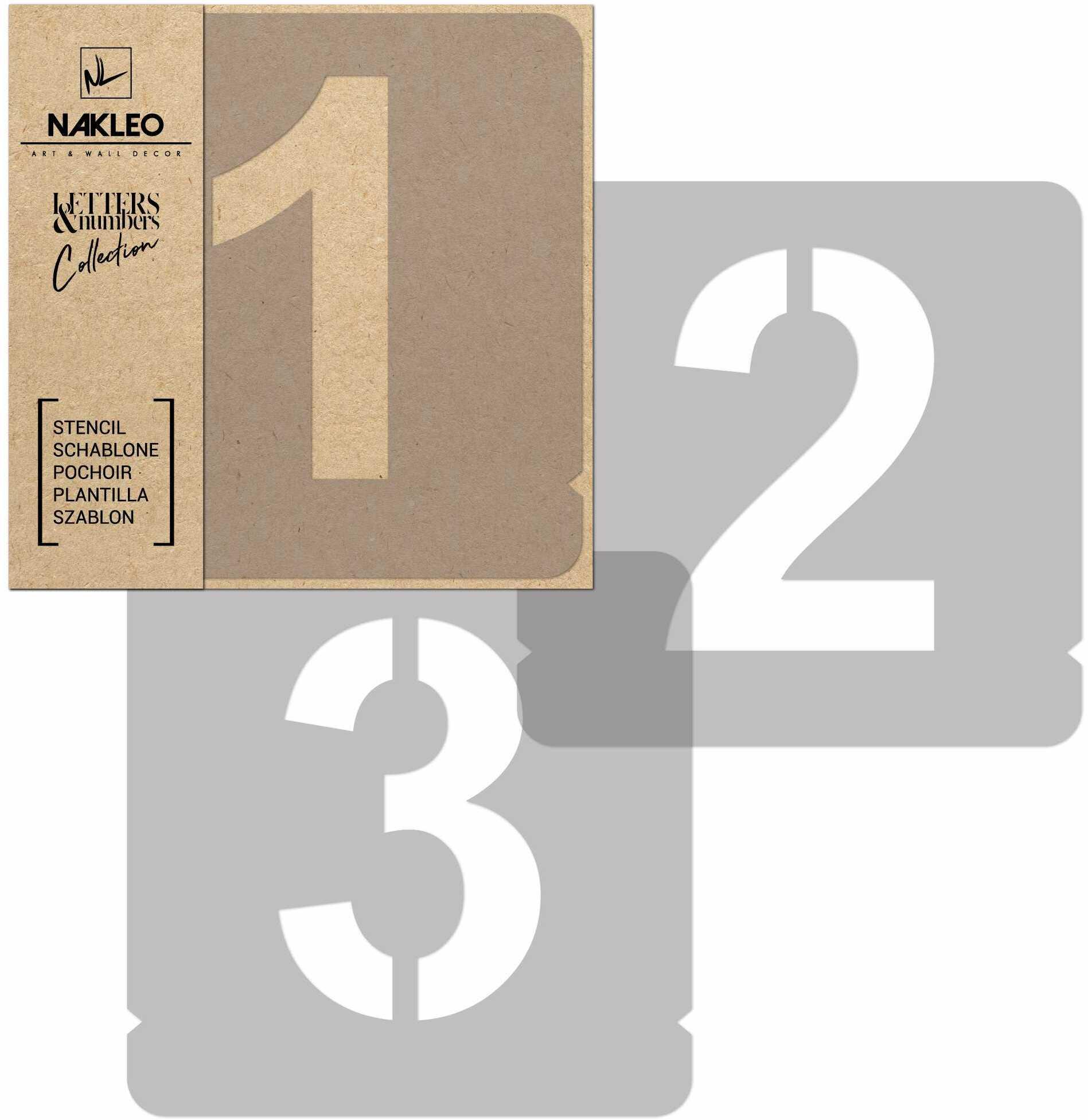 szablon malarski wielokrotny // cyfry 250 mm // Modern Sans Cyfry