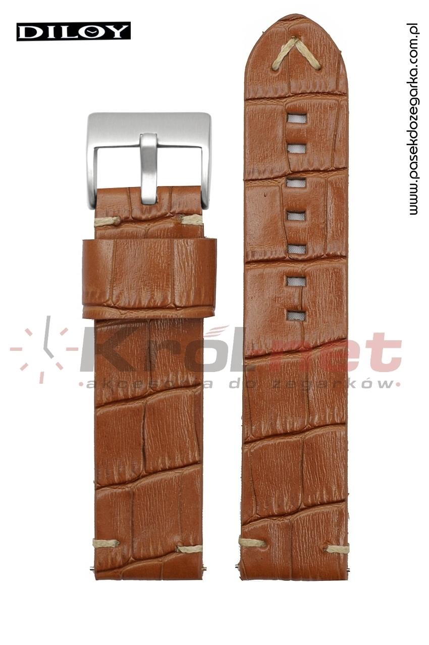 Pasek do zegarka Diloy 403/3/24 - jasny brąz