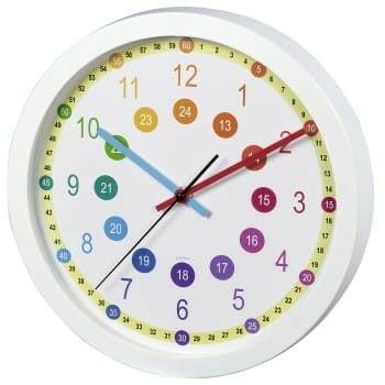 """Zegar dziecięcy """"Easy Learning"""", średnica 30 cm, cichy"""