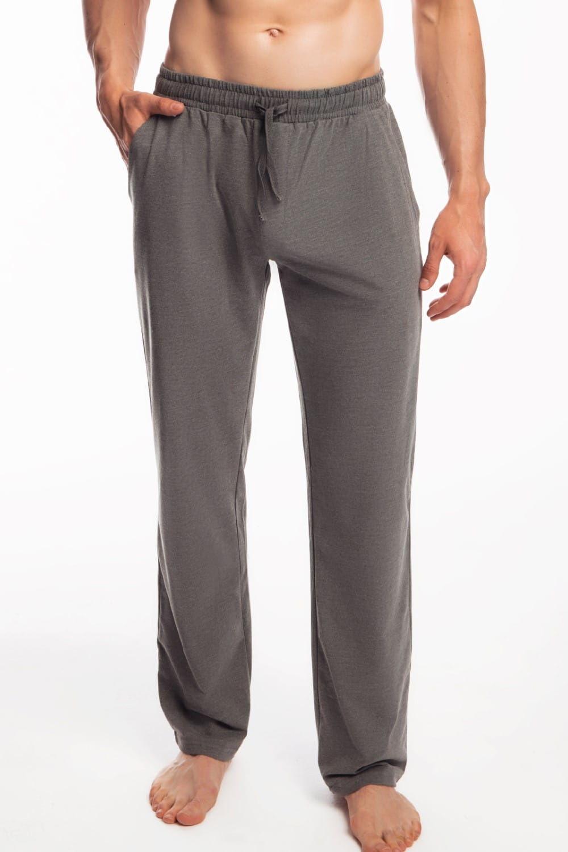 Męskie spodnie do piżamy Atlantic długie NMB 040 szare