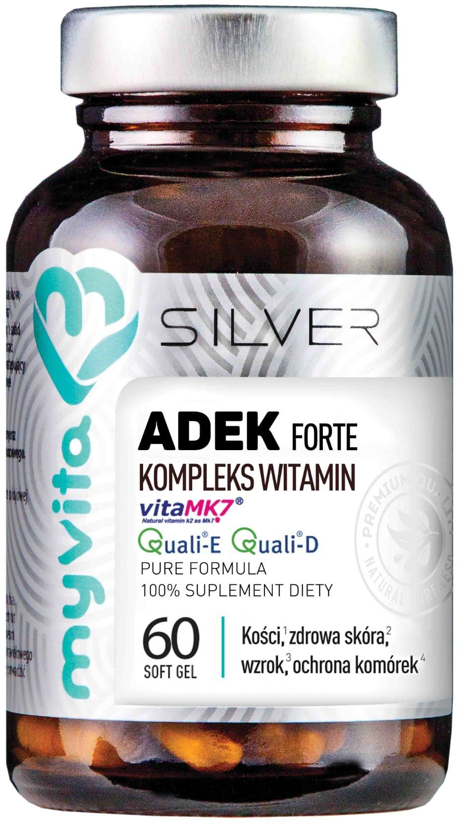 Witaminy ADEK Forte Kompleks Witamin (60 softgels) Silver MyVita