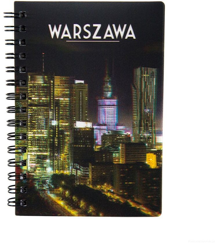 Notatnik 3d Warszawa City nocą