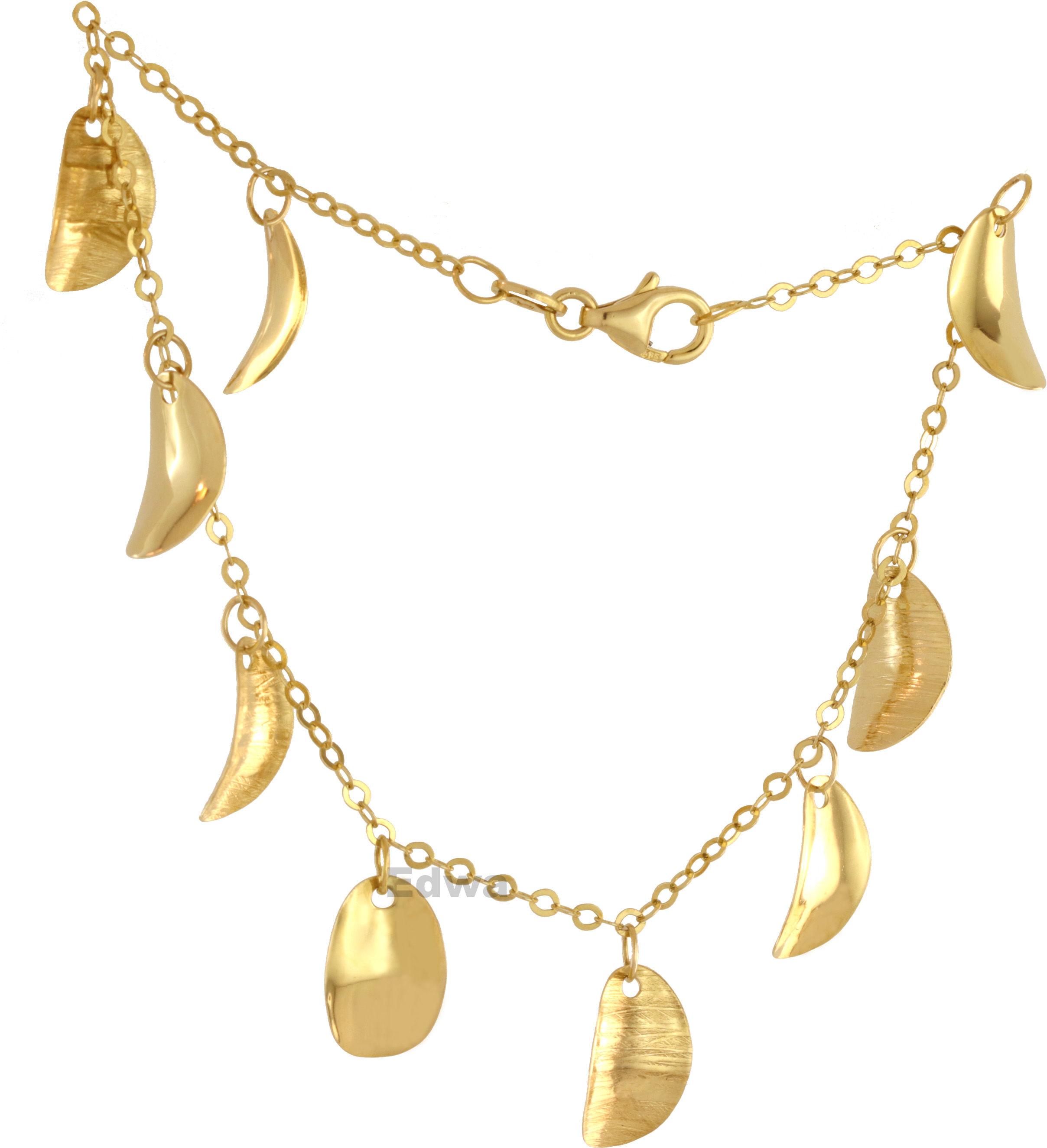 Bransoletka złota z zawieszkami pr.585
