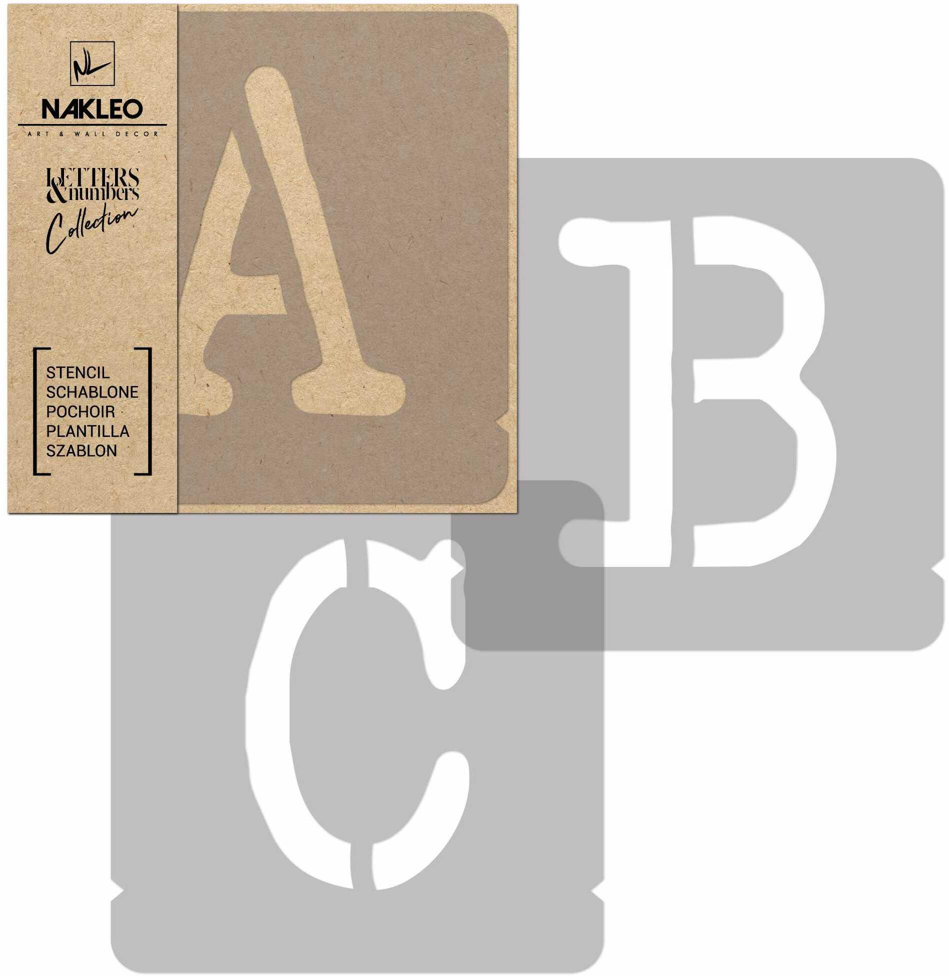 szablon malarski wielokrotny // litery i cyfry 70 mm // Typewriter Wielkie