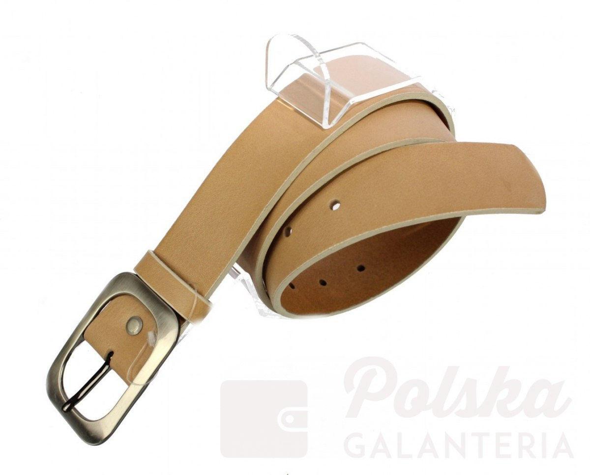 Pasek Skórzany Damski PAS-MAX (PL) Skóra Naturalna EXTRA Gładki 40 mm CIELISTY