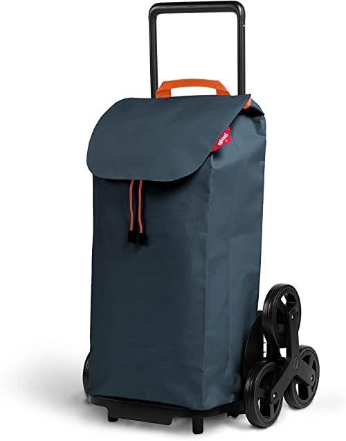 Gimi Tris Urban wózek na zakupy z 6 kółkami, 100% poliester, 52 l, 44,1 x 50,7 x 95,6 cm, szary