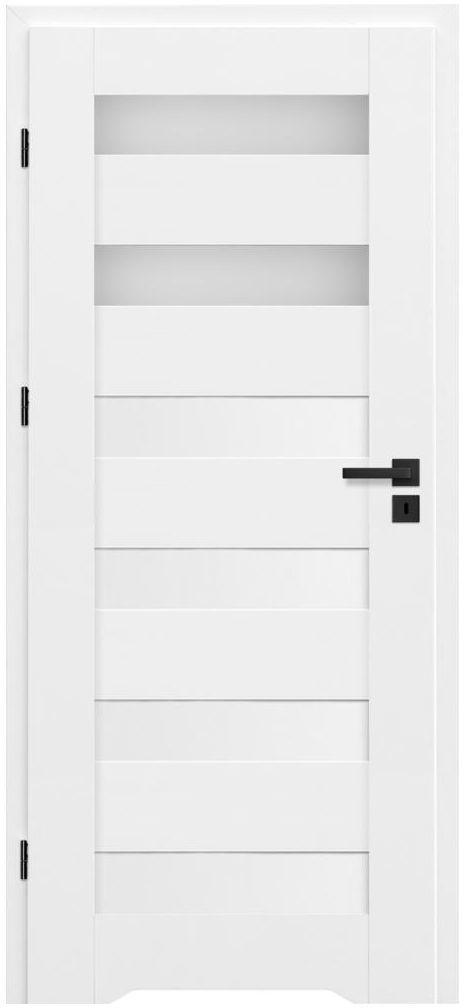Skrzydło drzwiowe z podcięciem wentylacyjnym Talana Białe 70 Lewe Nawadoor